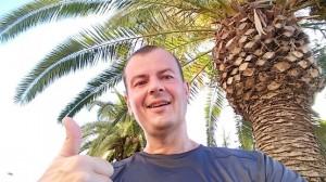И я под пальмами в конце маршрута