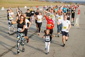 Дети задают темп бега