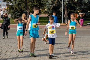 Разминка перед стартом на Kharkiv Airport Run 2018