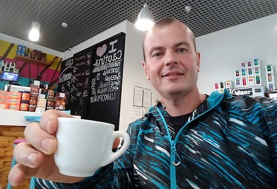 С чашечкою кофе перед стартом