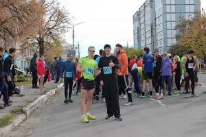 С Александром Лышенко перед стартом на 15 км