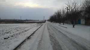 Бег по гололёду на дороге