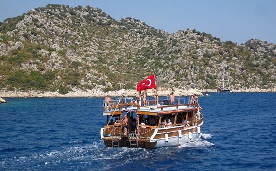 Прогулка на яхте по морю