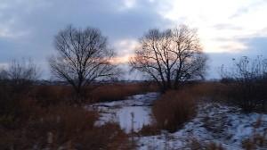 Закат, отснятый на бегу