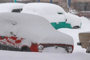 Жигули в снегу