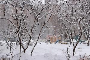 Красивая зима в городе Первомайский Харьковской области
