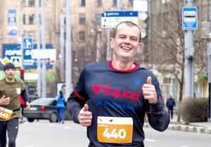 Бегу к финишу на третьем Харьковском полумарафоне