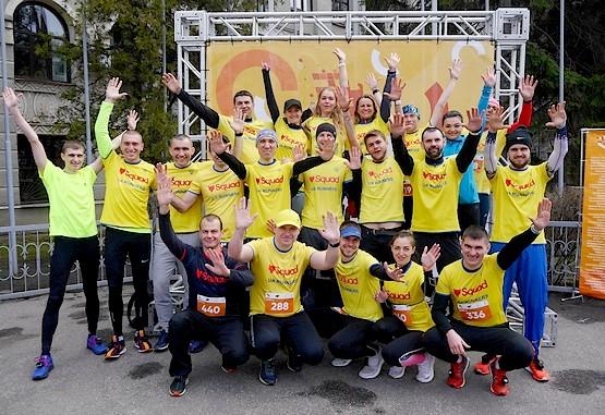 Командное фото Squad Ua Runners перед полумарафоном в Харькове 2019