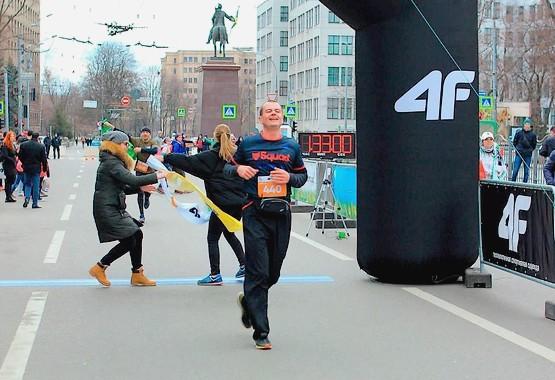 Первые секунды после финиша на третьем Харьковском полумарафоне