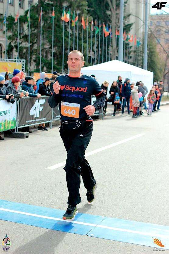 Пробежал первую половину дистанции на Kharkiv Half Marathon 2019