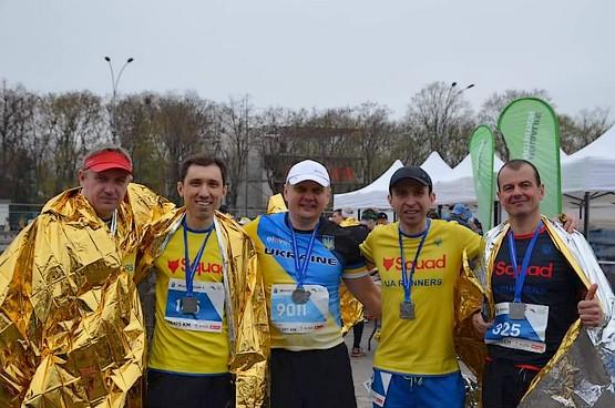 Финишеры Харьковского интернационального марафона
