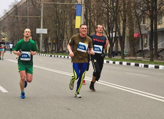 На дистанции 42 км в Харькове
