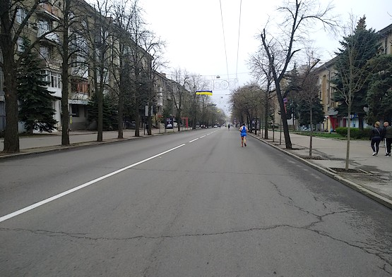 Последние километры марафона в Харькове 2019