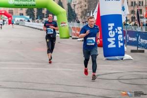 Последние метры перед финишем на Харьковском марафоне 2019