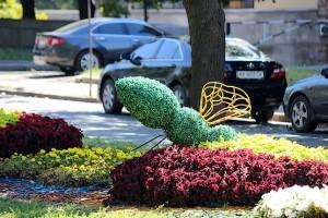 Цветочная композиция в центре Харькова