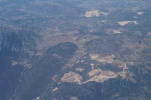 Фотография с полёта над горами Турции