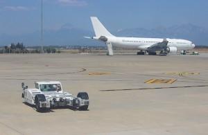 Фотография из самолёта в аэропорту Анталии