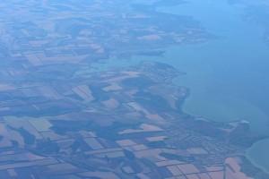 Поля, посадки и река Украины