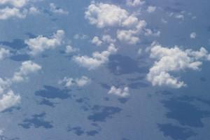 Тень от облаков на море