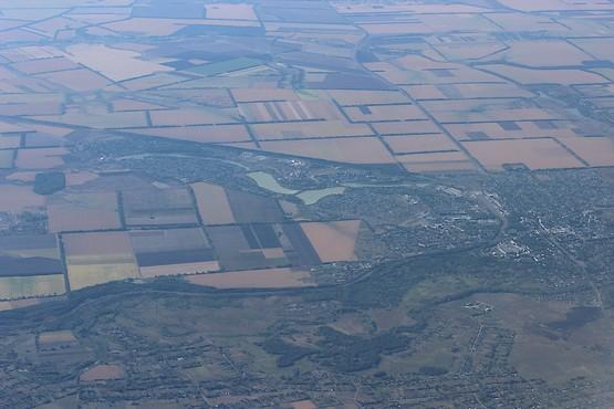 Украина с высоты 10 км