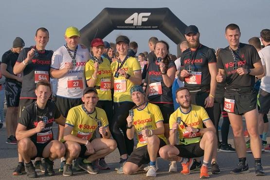 Команда Squad UA Runners после финиша на Kharkiv Airport Run 2019
