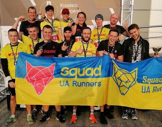Команда Squad UA Runners после пробега в аэропорту Харькова