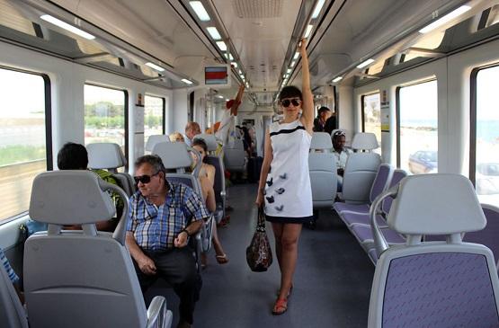 Таня в поезде