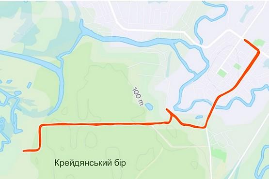 Маршрут дистанции 15 км в Балаклее