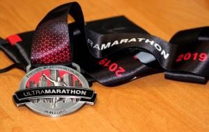 Медаль финишера ultra marathon 2019