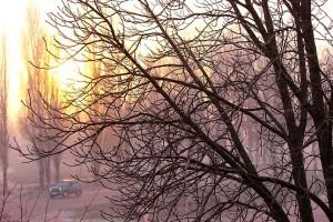 Солнце стремится за горизонт
