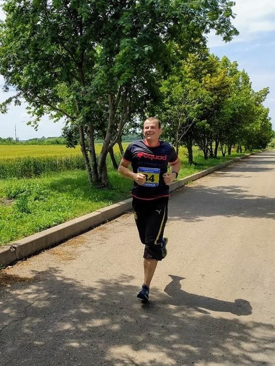 Бег на 5 км дистанции дуатлона