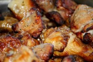 Мясо приготовлено на мангале