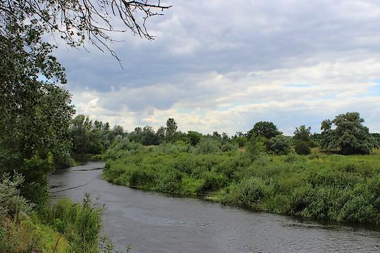 Облачное небо над рекой