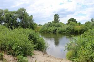 Песочный вход в речку Северский Донец