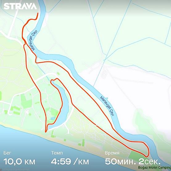 Маршрут пробежки в Турции, Манавгат