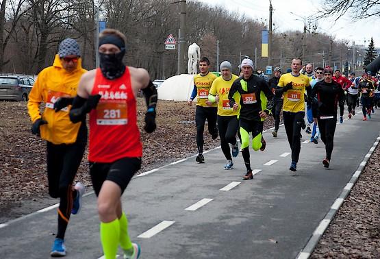 Первые метры Kharkiv Half Marathon 2021