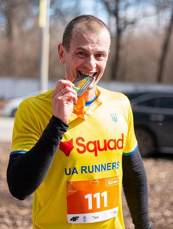 Попробовал медаль Kharkiv Half Marathon 2021 на прочность