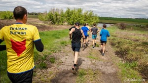 Группа лидеров на Popilna Trail