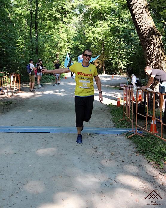 Финиш на Kharkiv Trail Half Marathon 2021