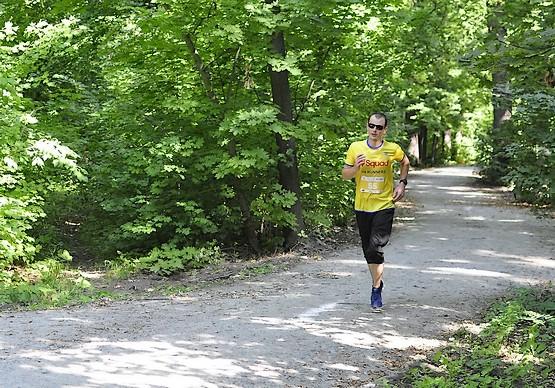 За миг до финиша на Kharkiv Trail Half Marathon 2021