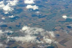 Красивые виды из иллюминатора самолёта
